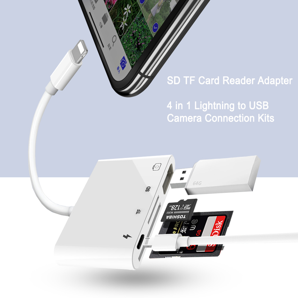 OTG USB Adapter Connector Data Transfer Cable for iPad 4 iPad mini AirAU
