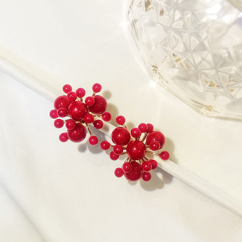 2019 New Arrival Irregular Simulated pearl Women Classic Stud Earrings Red Small Fireworks Female Korean Earrings.jpg 350x350 - 2019 New Arrival  Irregular Simulated-pearl Women Classic  Stud Earrings Red Small Fireworks Female Korean Earrings For Korean