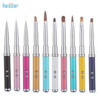 HAICAR 10pcs Professional Nail Art Brush Tips Crystal Acrylic Drawing Polish laser Pen touch screen Pretty Manicure Tools