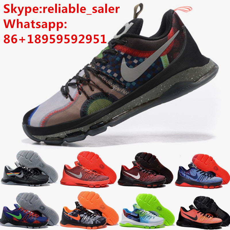 2016 Hot Sale Cheap Mens Kd 8 VIII Black Red Pink White Eur 40-46