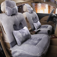 Plush car seat winter single piece plush car 5 seat cushion new mat warm special fit more than 95% cars free shipping