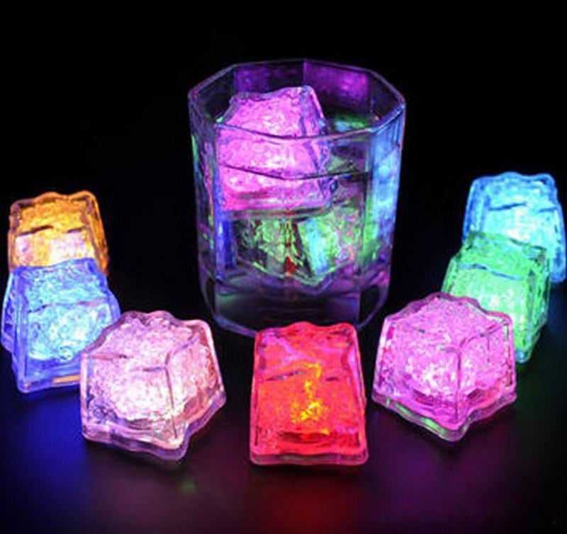 Luminous Cube LED Artificial Ice Cube Flash LED Light Wedding Christmas Party Decoration
