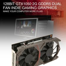 128Bit Графика карты для GTX1050 GPU 2 г GDDR5 PCI-E 3,0X16 640 потоковых процессоров игровой видеокарты с двойной настольный вентилятор