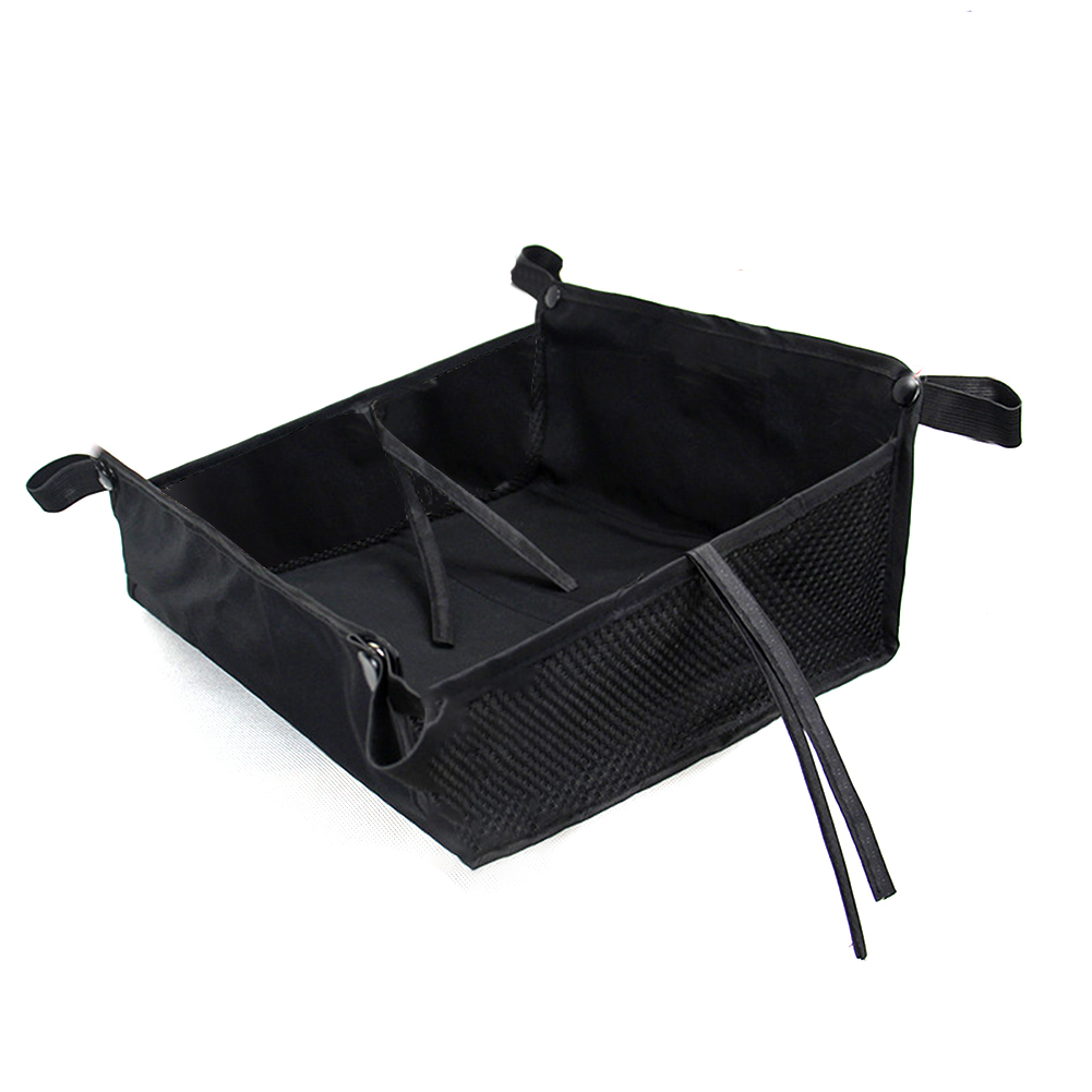 Easy Use Stroller Storage Bag Outdoor Casual Bottom Basket Home Shopping Baby Pushchair Large Capacity With Strings Accessories