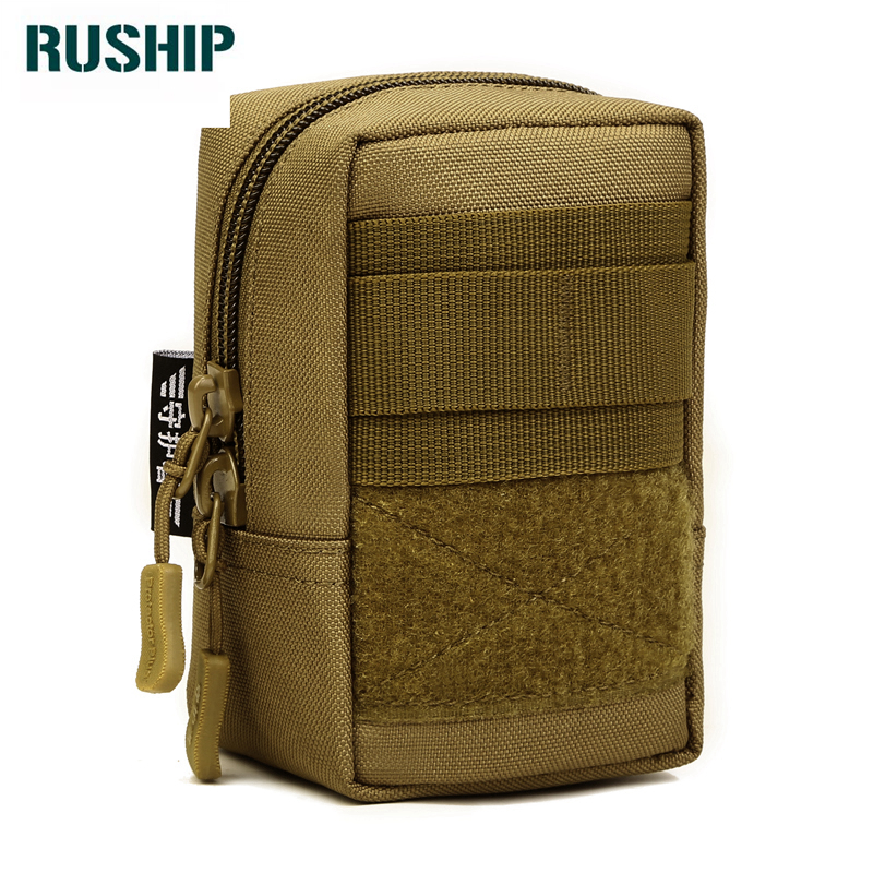 Hot Military Equipment Molle Accessories Multi Function Waist Pack Camouflage Waterproof Nylon Mobilephone Bag Flyye Small
