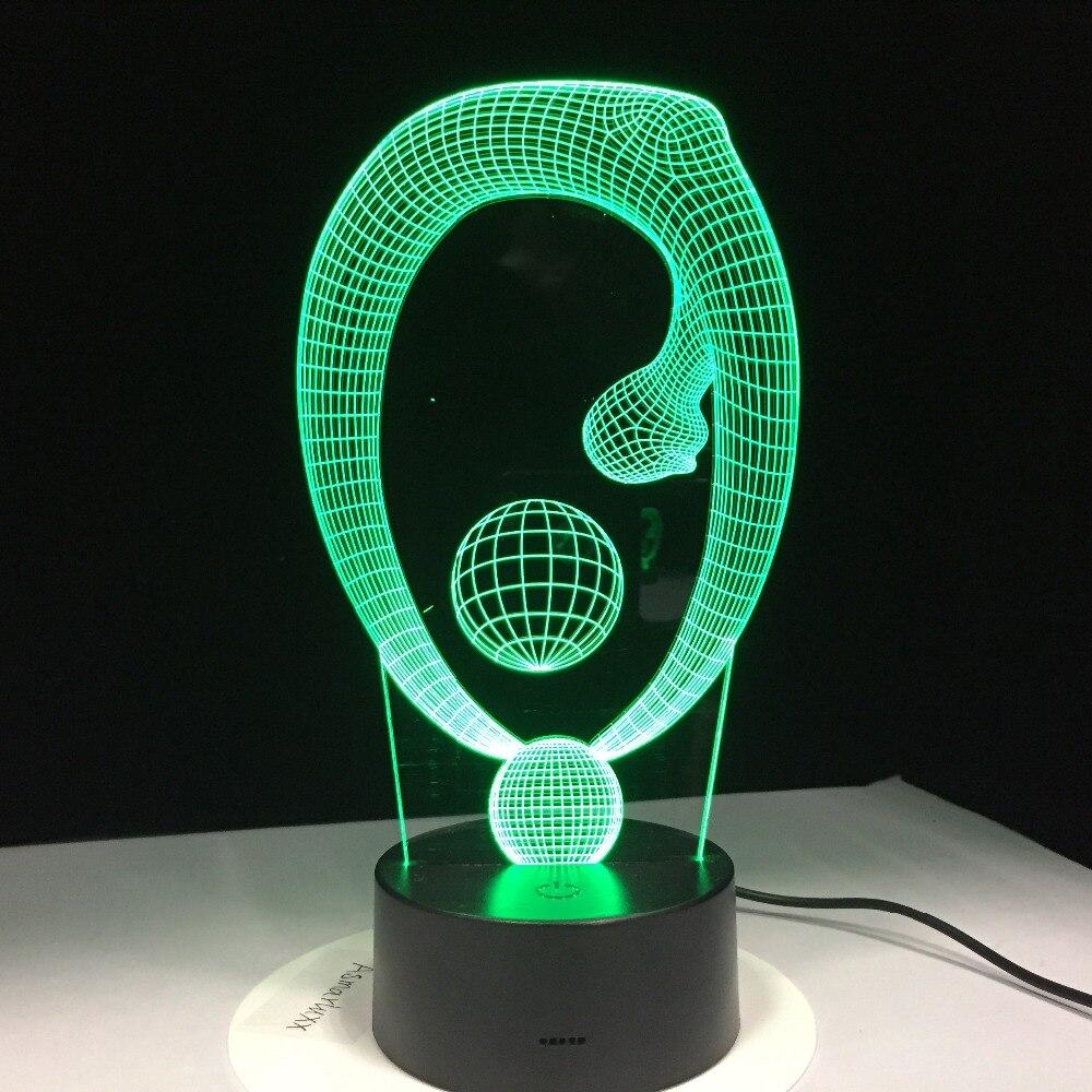 <+>  Пульт Дистанционного Yoga Ball 3D Лампа 7 Цвета Светодиодные Ночные Дети Сенсорный Светодиод USB Нас ✔