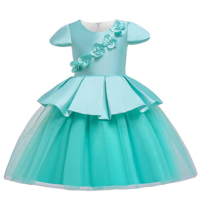 Disfraz De Niñas Para Niños Vestidos De Fiesta Para Niñas Elegante Vestido De Princesa Flor Niñas Vestido De Boda 3 4 5 6 7 8 9 10 Años