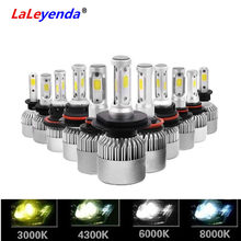 LaLeyenda Headlights H7 LED H4 Hi/Lo 880 H11 9005 9006 9004 9007 H13 6000K 72W 8000LM Fog Light Front bulbs Auto S2 3000K 8000K(China)
