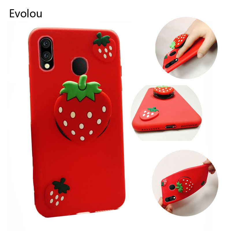 Cute 3D Soft Silicone <font><b>Case</b></font> For <font><b>Samsung</b></font> <font><b>Galaxy</b></font> A10 A20 A30 A40 A50 <font><b>A70</b></font> A90 M10 20 30 40 50 A8S Cover Holder <font><b>Ring</b></font> Stand Phone <font><b>Case</b></font> image