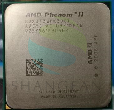 AMD Phenom X3 B73 2.8 GHz Quad-Core CPU HDXB73WFK3DGI 95 W Socket AM3 938pin