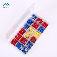 295pcs IT 300 18 Type Assorted Insulated Electrical Wire Terminals Crimp Connectors Spade Set Red Yellow