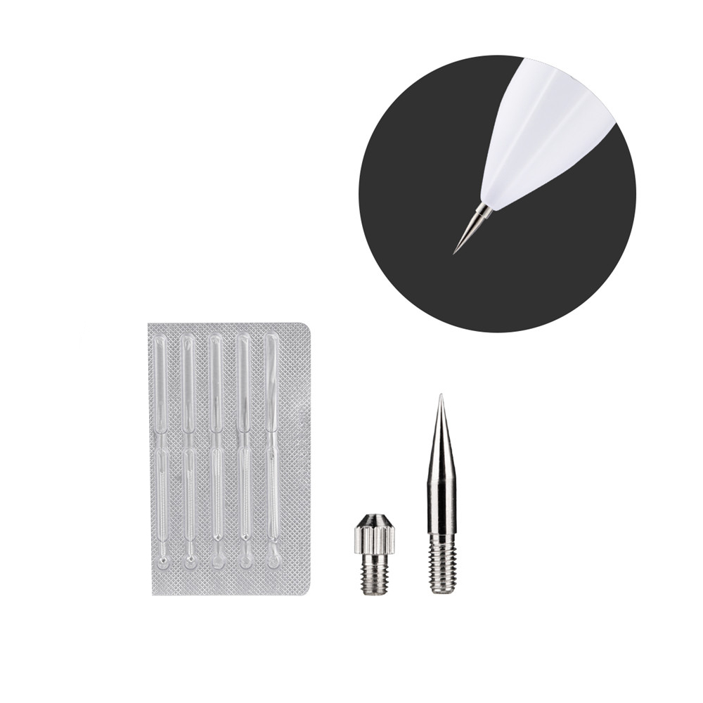 7pcs Spot Remover Dedicated Needles For Laser Freckle Removal Machine Facial Mole Wart Tag Tattoo Cleaner Pen Needles Head Tools