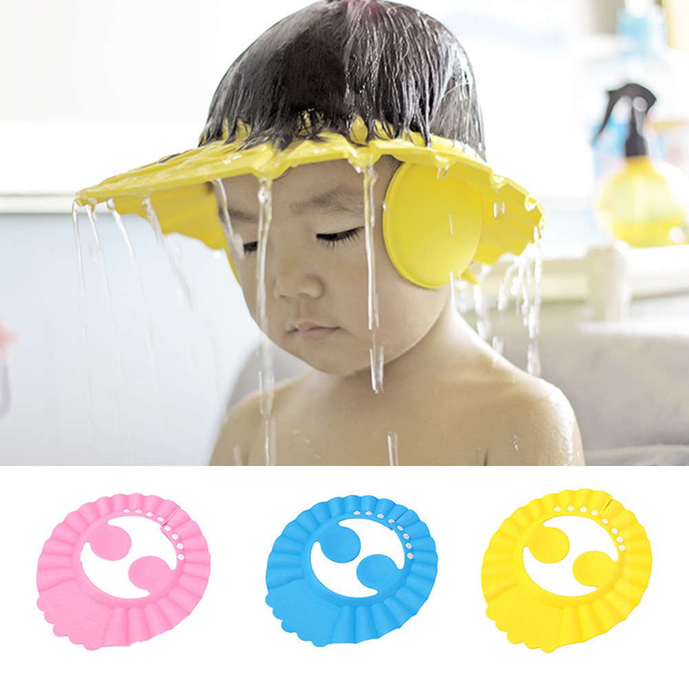Adjustable Child Bathing Cap Kids Shower Cap Baby EVA Soft Kids Shampoo Bath Shower Hat Baby Care Bath Protection Accessory #19
