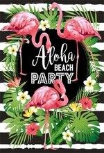 Laeacco Flamingo Beach Celebration Party Scene Baby Portrait Birthday Photographic Backgrounds Photography Photo Backdrop Studio
