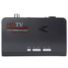 HDMI HD 1080 P Avec VGA/Sans VGA Version DVB-T2 TV Box AV CVBS Tuner Récepteur Télécommande Compatible Avec Le CRT et LCD