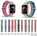Тканые Нейлон Ремешок для Apple Watch Band 38 мм 42 мм Ремешок из Ткани Браслет со Встроенным Ссылка Разъем Адаптера