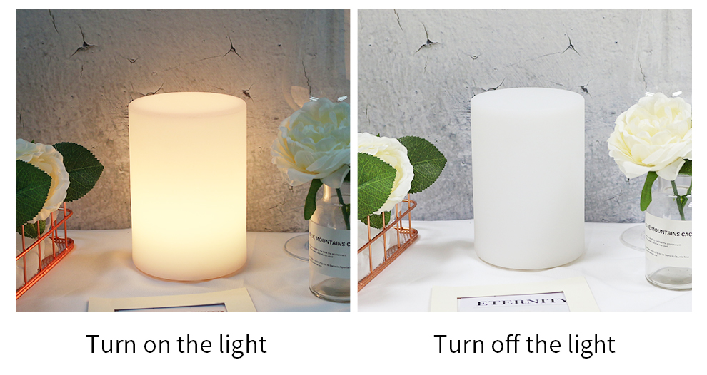 Cylinder Shape WiFi Smart Table Lamp Compatible with Alexa Voice Control Hand Touch LED Ambient Night Light Controlled by APP_F5