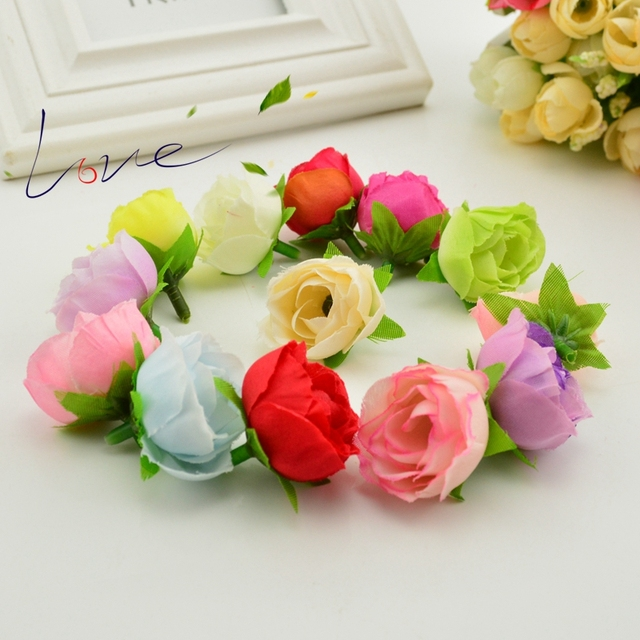 Aliexpress buy 50pcs 25cm artificial flower silk flower rose 50pcs 25cm artificial flower silk flower rose small tea bud wedding decoration diy wreath clip mightylinksfo