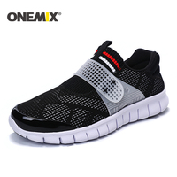 Onemix 2017 Summer Super Light Men Sport Shoe Cool Athletic Shoes Breathable Running Shoes For Men