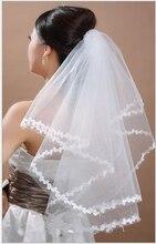 2019 тюль аппликации свадебный фата один слой белый слоновая кость свадебный волосы аксессуары тюль короткие дешевые невеста% 27s свадьба волосы вуаль