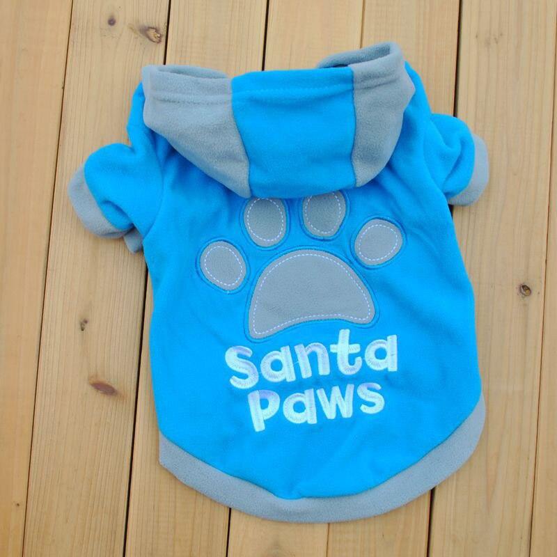 2018 Small Pet Dog Cat Sweatshirt Apparel Coat Fleece Clothes Hoodie Sweater XS-L H1
