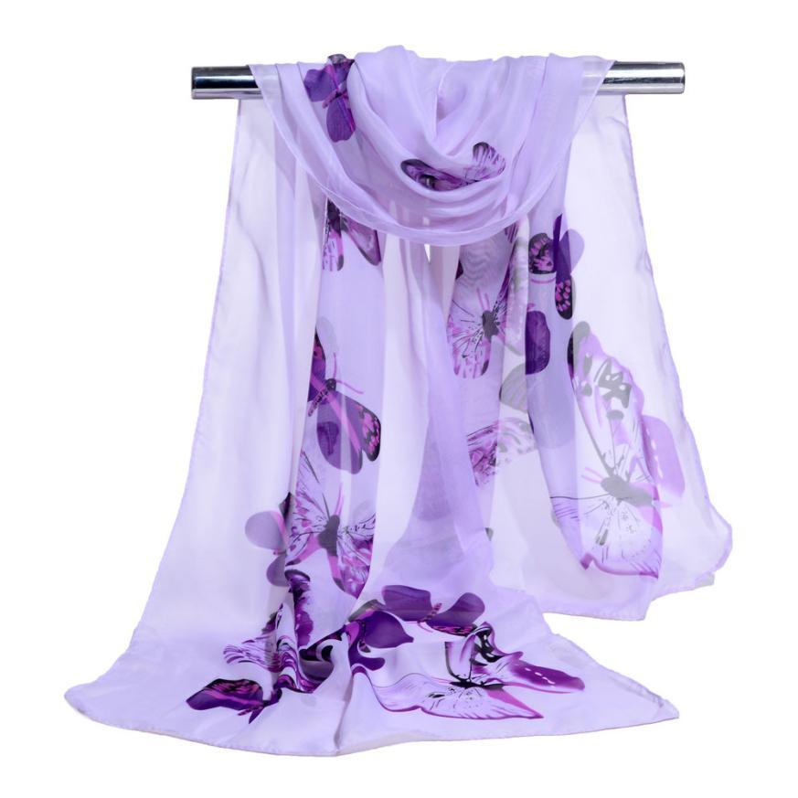 KANCOOLD   Scarves   new high quality Chiffon Fashion Soft   Wrap     scarf   Ladies Print Shawl   scarves   women chiffon jan25