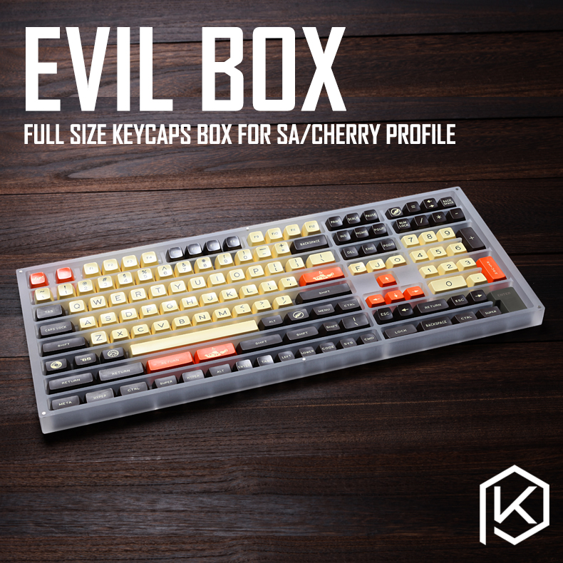 [GB]Evil Box Full Size Keycaps Box Sa Profile Cherry Profile Cnc Frosted Acrylic With Magnetic Cover