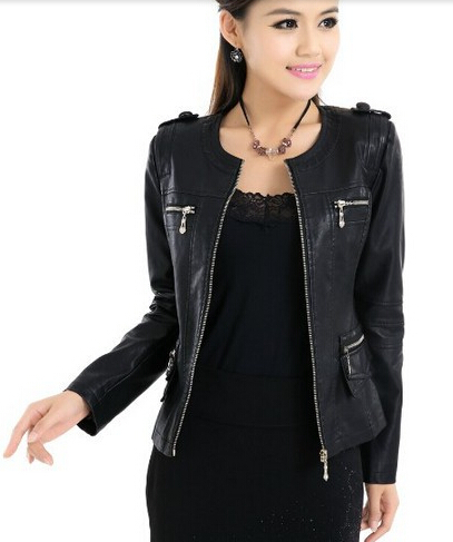 Aliexpress.com : Buy 2016 spring fashion leather jacket women 4XL ...