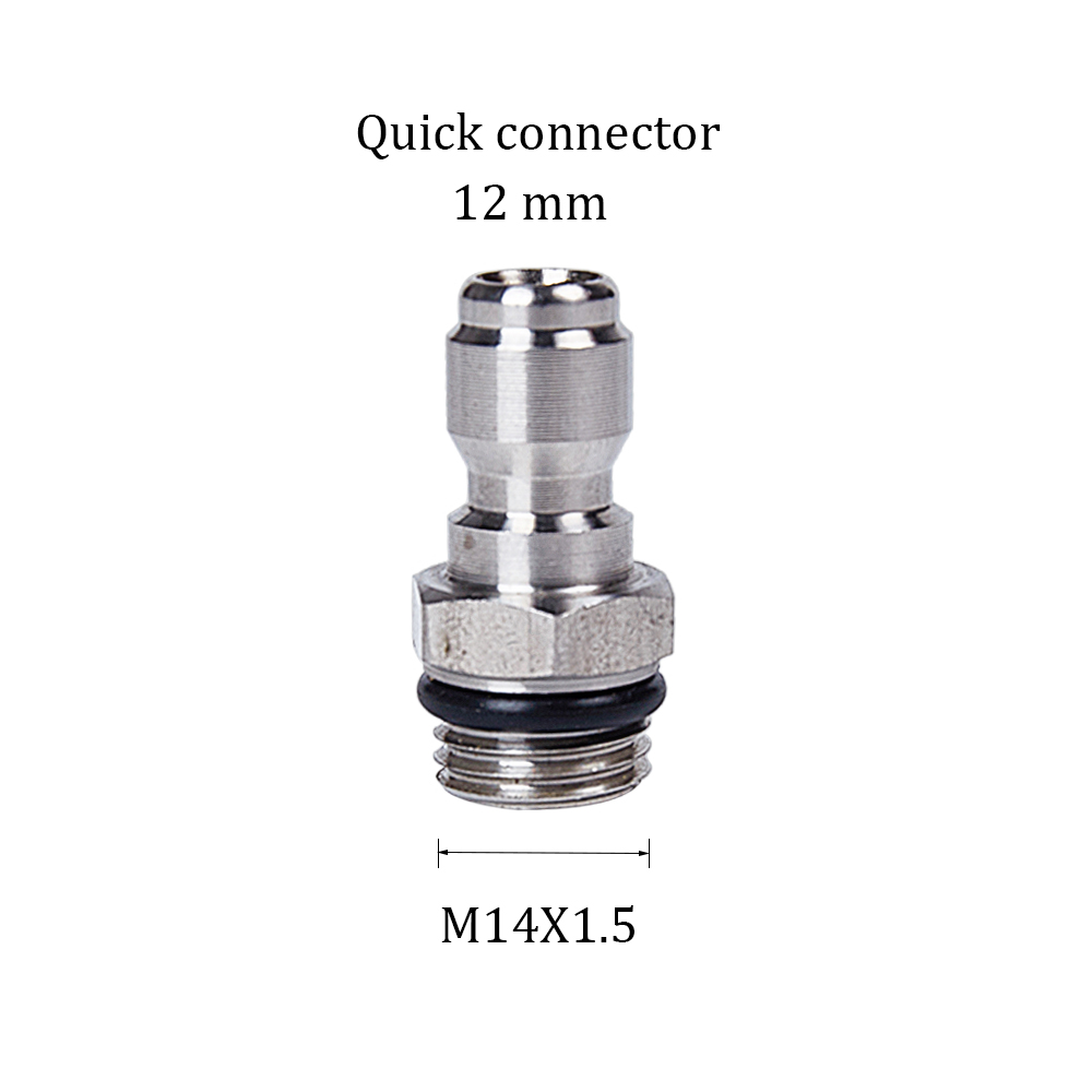 Wash Jet Quick Connector Coupling Male 1//4 To Female M22x1.5 14mm Adapter