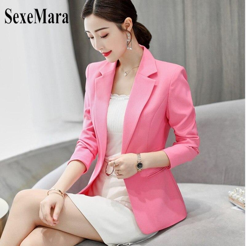 De Moda Tamaño 2019 Gran rosado blanco Sexemara Negro Abrigo Real Delgado  Primavera Otoño azul Coreana Salvaje Nueva ... 6b762d558758