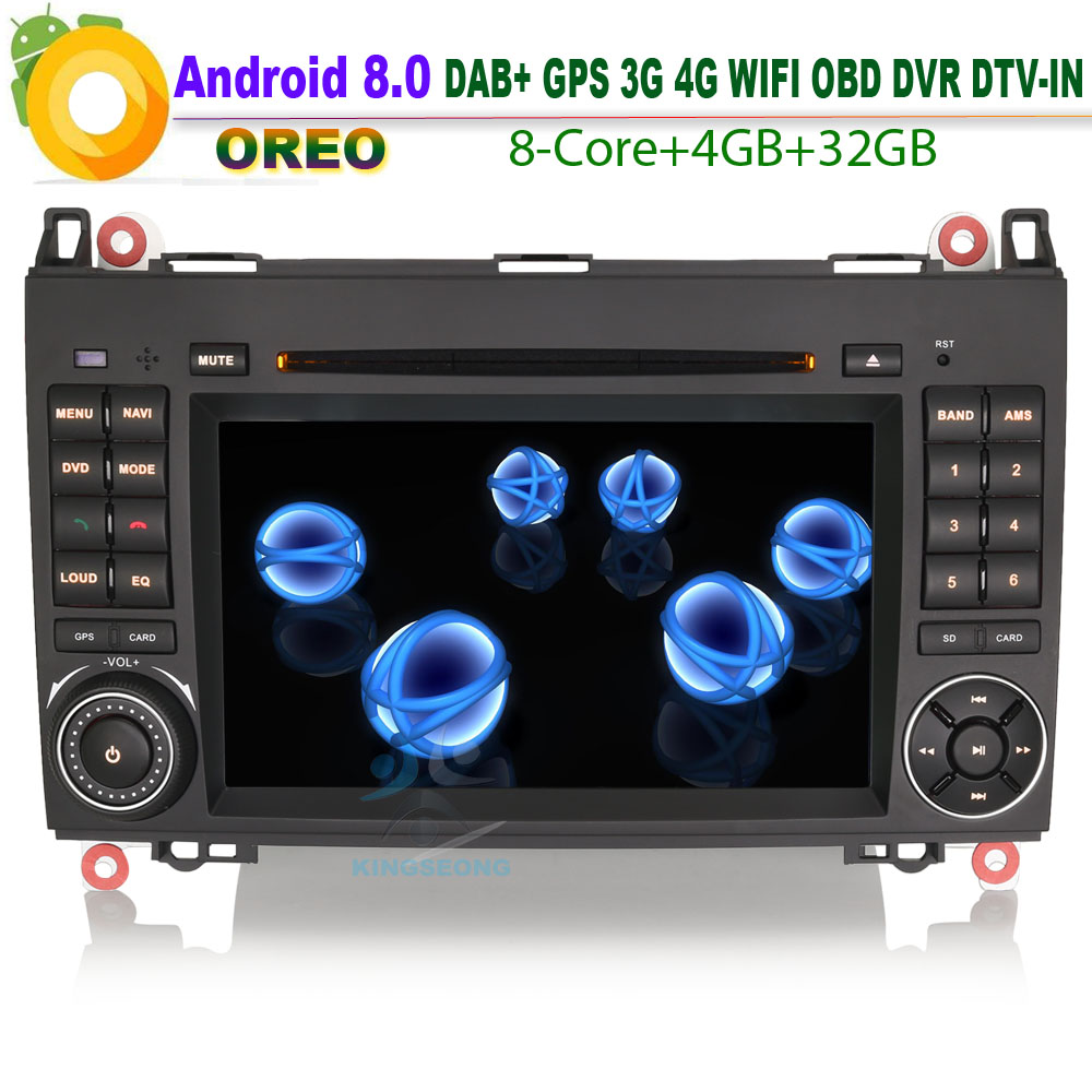 Octa Core DAB + Android 8.0 Sat Navi GPS WiFi 4g DVD Radio RDS SD USB BT OBD DVR DVT-IN auto CD-player Fü<font><b>r</b></font> VW <font><b>Crafter</b></font> 2006 ab image