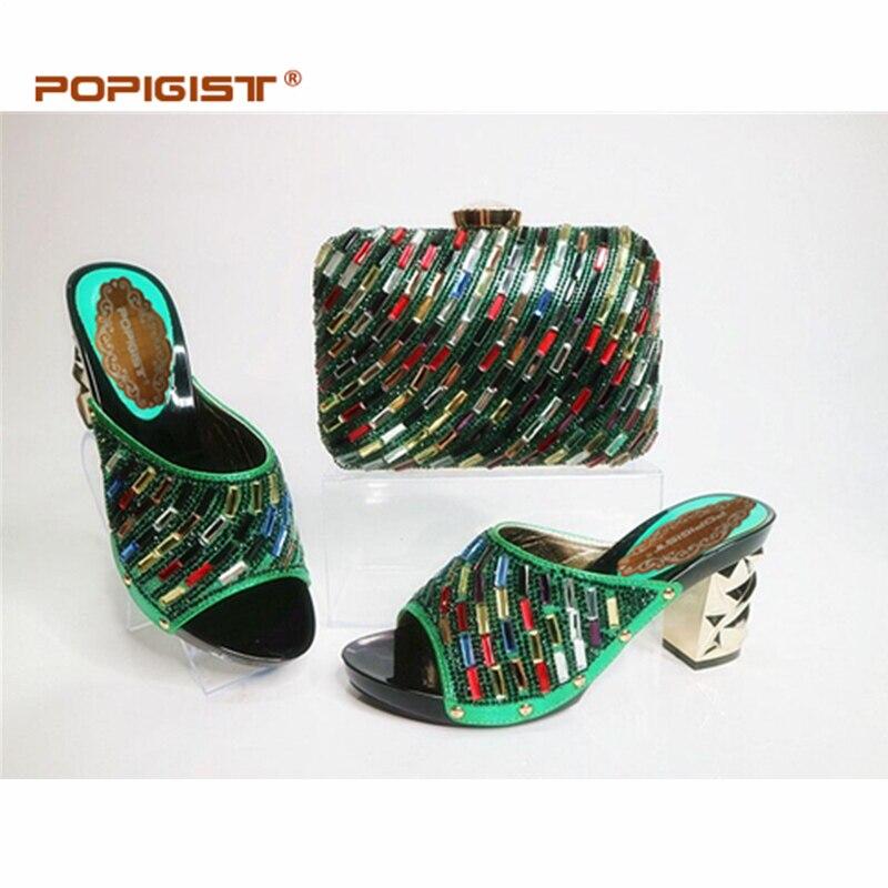 Ayakk.'ten Kadın Pompaları'de Son Afrika Ayakkabı ve Eşleşen Çanta İtalyan Altın Renk Ayakkabı ve çanta seti Kadınlar için Parti İtalyan ayakkabı ve çanta Kadınlar için'da  Grup 2