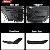 4pcs Fabric Door Protection Mats Anti kick Decorative Pads For Ford Explorer 2011 2013