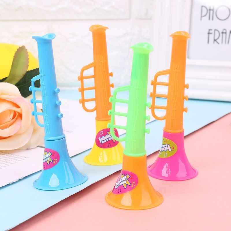 HBB 1 قطعة الاطفال اللعب الموسيقية البوق القرن الأطواق البلاستيك 4 بوصة الرضع طفل الأطفال لعبة تعليمية هدايا لون عشوائي