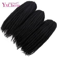 Марли косы волосы афропанк кудрявые Kanekalon синтетические плетеные пушистые волосы вязанные косички волосы канекалон