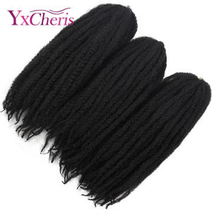 Hair Crochet Hair-Afropunk Curly Kinky Natural Synthetic Marley Fluffy