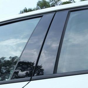 Image 3 - 8 ピース/セット BC 柱カバードア車の窓黒トリムストリップ PC プラスチックマツダ 3 2006 2008 2012 車の窓トリムストリップ