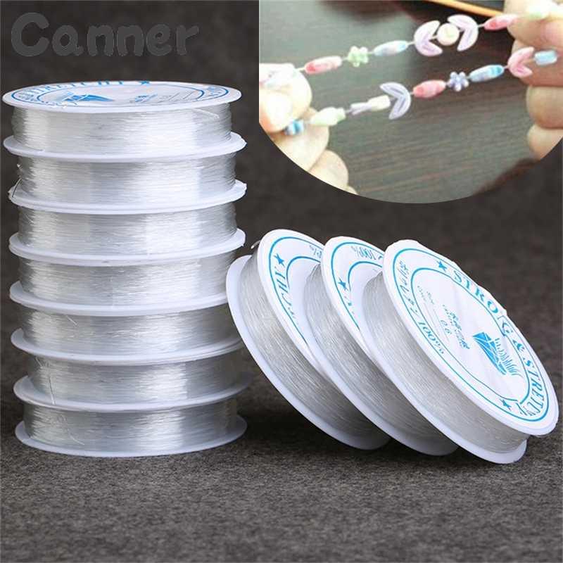 โปร่งใสยืดยืดหยุ่นสายคริสตัลประดับด้วยลูกปัดเชือกสำหรับ DIY สร้อยข้อมือสร้อยข้อมือทำ Handmade สาย A40