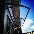 YP100480-alu 100x480 cm Folha de Policarbonato Transparente DIY Janela UV Chuva Toldo Do Pátio Ao Ar Livre Tampa Protetor Solar Porta Dossel