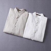 Italie marque à manches longues hommes chemise solide mode casual chemise hommes linge rétro mens chemises plus la taille livraison gratuite baisse gratuite