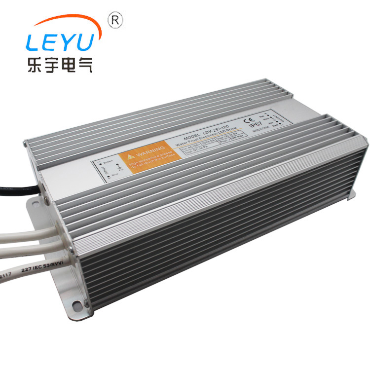 цена на hot sale 250w waterproof led driver ac to dc single output 12v 0~20.8a approved CE RoHs two years warranty IP67 level