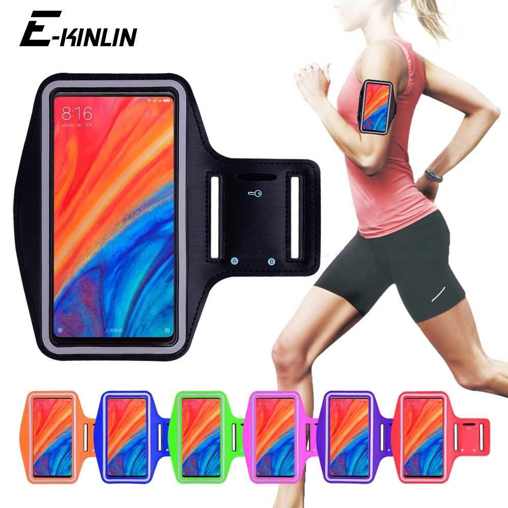 Bieganie siłownia sportowe etui torebka opaska na ramię etui na telefon xiaomi Mi CC9e CC9 Max Mix 2 2S 3 6X8 Pro 9 SE grać A3 A1 A2 Lite