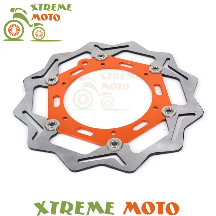 270MM Front Floating Brake Disc Rotor For KTM EXC GS MX SX SXS MXC XCW EXCF SXF XCF 125 144 150 200 250 300 350 380 400 450 500 high quality 270mm oversize front mx brake disc rotor for yamaha yz125 yz250 yz250f yz450f motorbike front mx brake disc