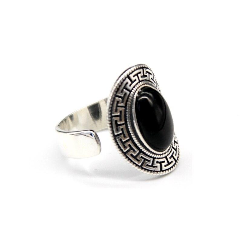 Fabriqué à la main 100% 925 argent bohême anneau porte-bonheur symbole anneau bonne chance redimensionnable