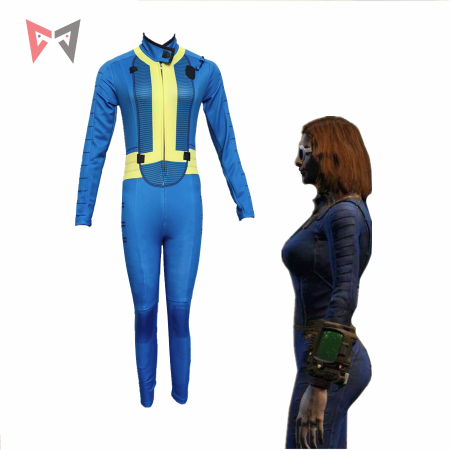 MMGG Halloween Game Fallout 4 Cosplay Costumes Nora cosplay Jumpsuits custom made size