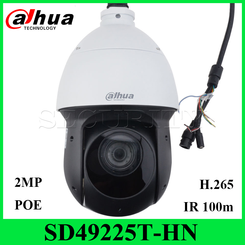 Dahua Original SD49225T-HN 2MP IR100M PTZ Speed Dome H.265 IP66 Support PoE+ Alarm Audio Network Camera with Dahua Logo