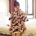 Japanese Kimono Style Nightgown Summer Cotton  Maternity Dress Bathrobe Robe Thin Section  Sleepwear For Pregnant Women Pajamas