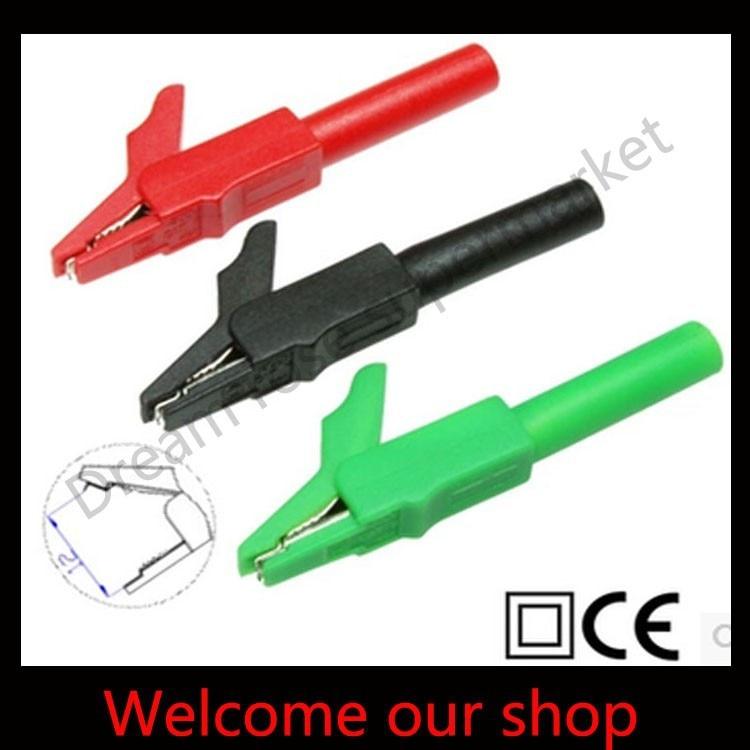 10pcs 56mm alligator clips 4mm banana plug socket Alligator Cable Clip,test clip CATII 300V/MAX.15A