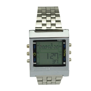 Image 4 - TVG Sports Watches Military Quartz LED Digital Watch Men Alarm TV DVD Remote Mens Stainless Steel Wristwatch Fashion Casual