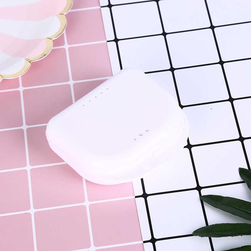 Aparelho Dental Dentes Falsos Recipiente Caixas De Armazenamento Caso Caixa De Armazenamento De Banho Dentadura Dentaduras Cleaner Levert Dropship